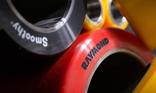 Raymond Forklift Wheels, parts of a forklift