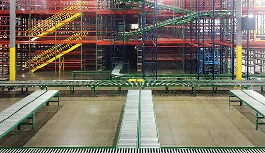 integrated systems, warehousing, racking, conveyor