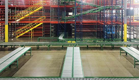 integrated systems, warehousing, racking, conveyor
