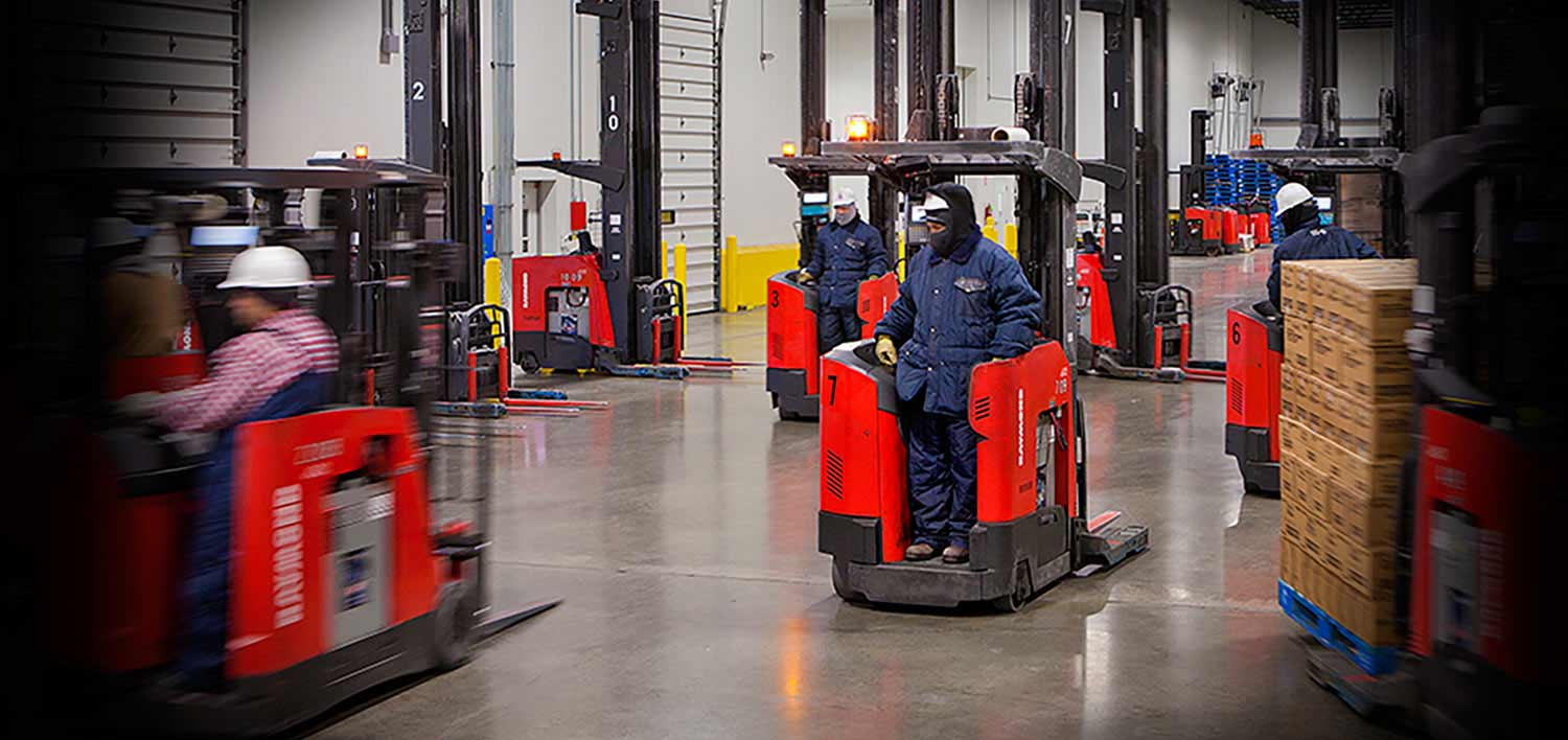 Raymond material handling equipment usage programs