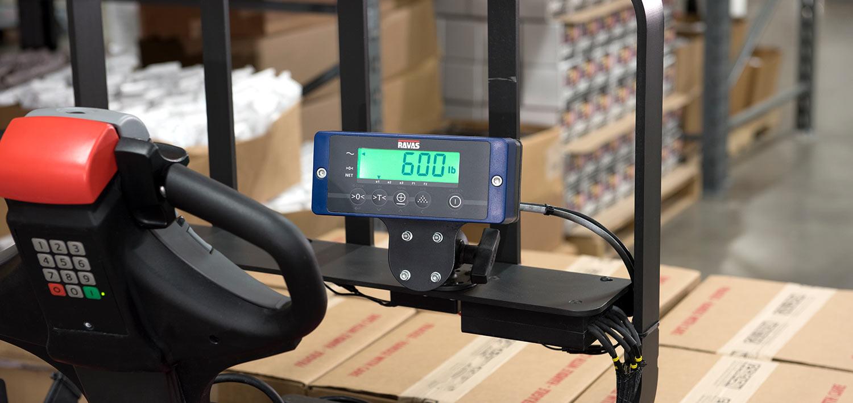8210 walkie pallet jack, weigh scale