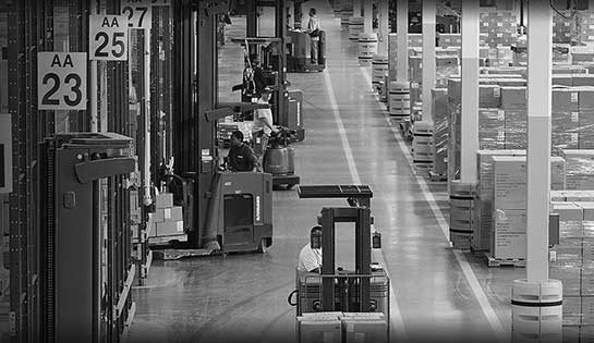 The Container Store, Malin, Raymond forklifts, reach truck, pallet jack