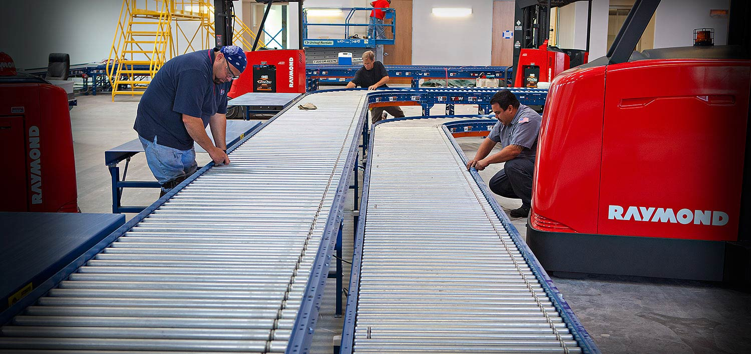 Conveyors, conveyor system, Raymond Handling Solutions, turret truck