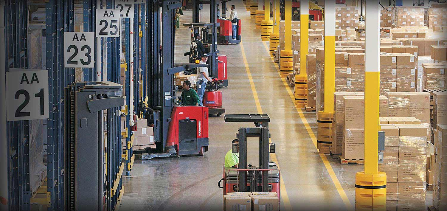 Forklift, electric forklift, stand up forklift, Raymond forklifts, Reach Truck
